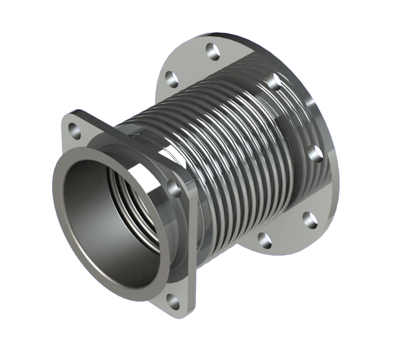 Custom stainless steel bellows expansion joint triad
