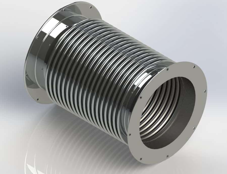 Metal Duct Expansion Joints with Angle Iron Flanges